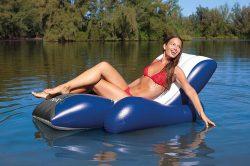 Chaise longue de piscine Intex gonflable Deluxe